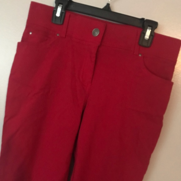 Glorious 89th And Madison Red Print Pants Xl Clothing, Shoes & Accessories